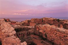Punic Town of Kerkuane (UNESCO World Heritage Site), Tunisia - This Phoenician city was probably abandoned during the First Punic War (c. 250 BC) and as a result was not rebuilt by the Romans. The remains constitute the only example of a Phoenicio-Punic city to have survived.