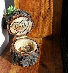 Mini Succulent planter proposal ring box / ring bearer pillow https://www.etsy.com/listing/254895165/rustic-ring-bearer-pillow-w-mini-planter