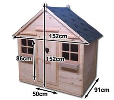Compact Outdoor Playhouse Wooden Cubby House with Dual Windows - JS-04   Crazy Sales