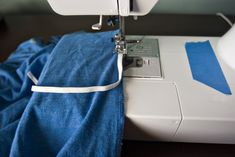 DIY Ruched Tee, I do a loose gathering stitch, ruch as much as I want, then sew twill tape over the gathering stitch, WAY easier than using elastic.  Can do it on sleeves, t-shirts, shirts to add detail or make a larger t-shirt fit better.  SO in right now