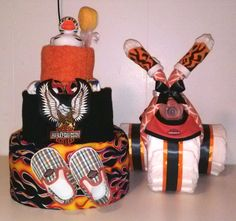 The Perfect set for a Harley Davidson Baby Shower Decoration by Little KG Dreams