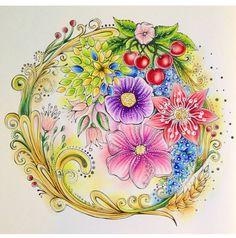 577 отметок «Нравится», 13 комментариев — Colorindo Meu Jardim Encantado (@colorindomeujardimencantado) в Instagram: «Art by @mirjamoertel 💐🌸🌱🍒 Bom dia colorideiras do meu jardim encantado!!! Estamos no meio da semana…»