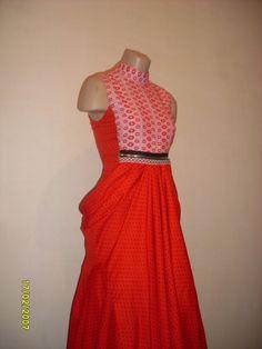 Платье-футляр со съемной верхней длинной юбкой из от RAFINADD