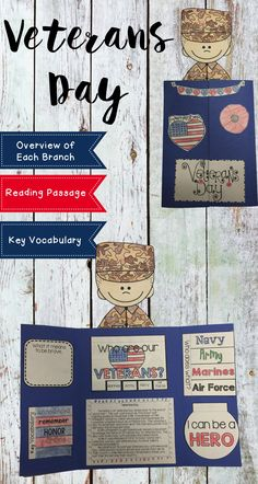 Want to share the meaning of Veterans Day with your students in an appropriate and engaging way? This Veterans Day Lapbook activity is just what you need. The lapbook covers history and declaration of Veterans Day, military branches minibook, key vocabulary, being brave writing, how I can be a hero writing, and matching service men to the way they serve our county. This is going to be a lot of fun to use during the month of November. Happy Veterans Day!