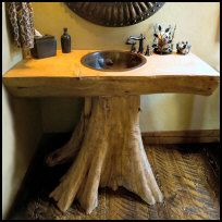 Tree trunk sink. seems simple enough? sometimes i['m not sure if i should pin in My Simplest Dreams or My Wildest Dreams!