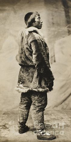 An Inuit man of Kings Island, Alaska. Photographed by Beverly B. Dobbs, 1903.