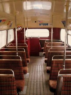 Upstairs on a double decker London bus 1970s Childhood, My Childhood Memories, Childhood Toys, London Bus, Old London, Vintage London, Routemaster, London History, Local History