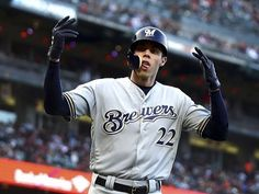 Christian Yelich #22 Milwaukee Brewers White Cool Base Player Jersey Chills And Pains Clothing, Shoes & Accessories