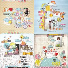 As 4 Estações - Papéis Scrapdiary ☁️🌈 Dan, Scrapbook, Cold, Scrapbooks, Scrapbooking