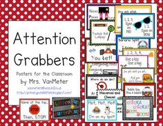 """This packet includes several """"Attention Grabbers"""". I use ALL of these in my kindergarten classroom. Using attention grabbers helps reduce disruptions and eases transitions in the classroom."""