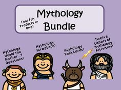 **Note:  Items can by purchased separately for $13.25.  If you have already purchased the items individually, you will not need this bundled product.  Bundle includes FOUR awesome mythology products:  Product #1:  Greek Mythology Scrapbook/Trading Cards/Posters Activity  Your students will have FUN while learning about and researching Greek mythology.