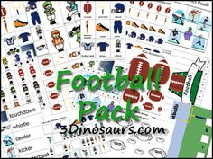 Free Football Pack (and Football Extra Packs) from 3 Dinosaurs