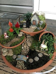 If you are looking for Indoor Fairy Garden Ideas, You come to the right place. Here are the Indoor Fairy Garden Ideas. This article about Indoor Fairy Garden Ide. Fairy Garden Pots, Indoor Fairy Gardens, Fairy Garden Houses, Miniature Fairy Gardens, Garden Art, Fairy Gardening, Gnome Garden, Container Fairy Garden, Fairy Gardens For Kids