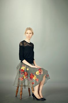 Erdem Pre-Fall 2012 - lush sweater with a real power skirt