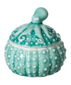 Look at this #zulilyfind! Sea Urchin Box with Octopus Lid #zulilyfinds