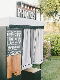 Make special memories with a classic wedding photo booth for a fun activity that allows guests to get goofy and make a keepsake out of the process.