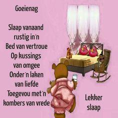 Goeie Nag, Sleep Tight, Afrikaans, Good Night, Nighty Night, Sleep Well, Afrikaans Language, Good Night Wishes