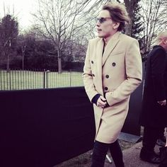 Jamie Campbell Bower Burberry A/W14 show in London's Kensington Gardens