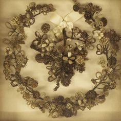 victorian hair art wreath