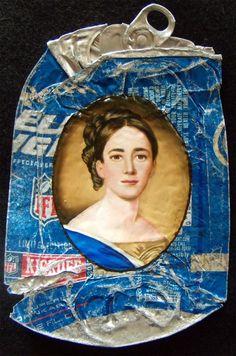 Historical Fine Oil Portraits on Crumpled Trash by Kim Alsbrooks  http://www.thisiscolossal.com/2014/06/historical-fine-oil-portraits-on-crumpled-trash-by-kim-alsbrooks/