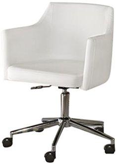 Signature Design by Ashley Baraga Home Office Swivel Desk Chair, White