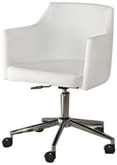 this swivel desk chair delivers the comfort you crave with the modern style that suits your taste sleek linear and faux leather maximize a minimalist l bedroompicturesque comfortable desk chairs enjoy work