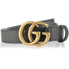 Gucci Gg Buckle Belt ($275) ❤ liked on Polyvore featuring accessories, belts, black, buckle belt, gucci, leather belt, real leather belts and genuine leather belt