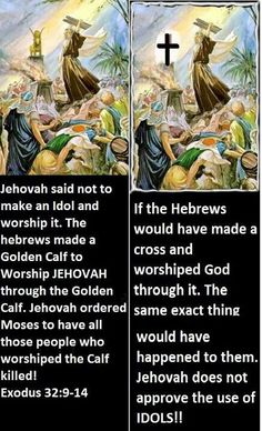 Short Bible lesson. God does not want us to worship idols of any kind.It is detestable to him.