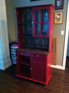 Amazing Kitchen Hutch, Country Hutch, Red Hutch