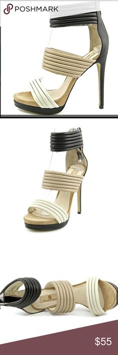 """Mia Leather and Suede heels Black Multi Width B(M) Leather Upper Material Man-Made Outsole Material 5.25"""" Heel Height                                                  *runs big* Mia Shoes Heels"""