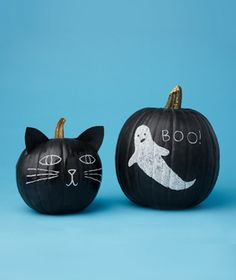 Chalkboard pumpkin - definitely doing this year - easy!