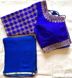 Hand Work Blouse Design, Simple Blouse Designs, Stylish Blouse Design, Wedding Saree Blouse Designs, Silk Saree Blouse Designs, Designer Blouse Patterns, Plain Saree, Hand Embroidery, Embroidery Works