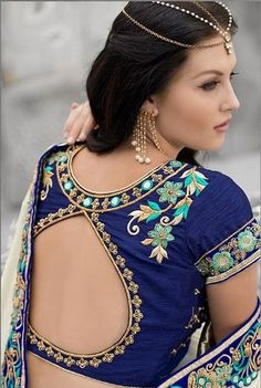 Green,White and Off White color family Bridal Wedding Sarees,Embroidered Sarees,Party Wear Sarees with matching unstitched blouse. Kids Blouse Designs, Fancy Blouse Designs, Saree Blouse Designs, Blouse Patterns, Blouse Styles, Mirror Work Blouse, Stylish Blouse Design, Party Wear Sarees, Indian Designer Wear