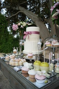 WEDDING DESSERT TABLE. We will be having something like this for our guests