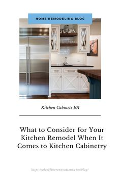 A kitchen remodel is one of the most significant home improvement projects you can start. Not only is it an important investment in your home, but it also comes with a myriad of decisions and factors to consider. One of the important decisions that you will make involves the type of kitchen cabinetry you will choose, dictating the overall direction of your kitchen design. Here's what you need to consider when it comes to choosing your cabinetry: Kitchen Cabinetry, Home Improvement Projects, Factors, Home Remodeling, Kitchen Remodel, Kitchen Design, Things To Come, Type, Storage
