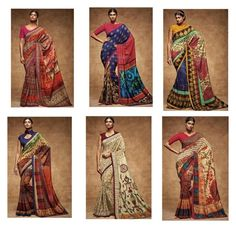 """Likeable Multicolor Digital Print Work Silk Saree For Party"" by designersandyou ❤ liked on Polyvore featuring modern"
