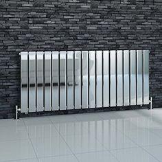 iBathUK-600-x-1380-mm-Chrome-Column-Designer-Radiator-Horizontal-Single-Flat-Panel-0