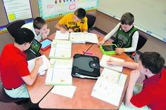 Flipped classroom. I wonder how this could work in science? Maybe take notes in their journals at home?