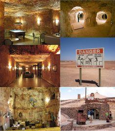 Coober Pedy, South Australia; It is an opal mining, underground town