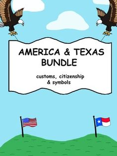 The bundle includes vocabulary, printables and activities for learning national and Texas symbols, monuments, pledges and songs. Original graphics make up this patriotic bundle. CITIZENSHIP TEKS : Kinder, 1st, 2nd K.10 (a,b,c,d) 1.14 (a,b,c,d) and 2.14 (a,b,c,d)