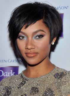 Short Weave Hairstyles for Black Women 2012 Short Weave Hairstyles for Black Women with Round Face