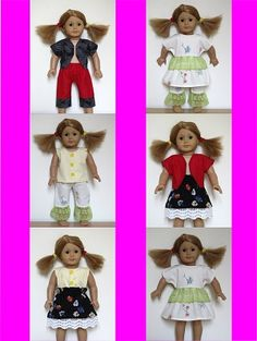 American Girl Doll clothes sewing patterns for BEGINNERS to download from ik-patterns