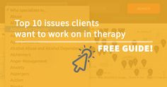 I own and run a local mental health directory called Portland Therapy Center. The directory lists hundreds of therapists and averages over 10,000 visits each month. The vast majority of the visitors are looking for counseling services. Potential clients have the option to search for a therapists based on the primary issue the therapist specializes in and what they would like to address in therapy.  (To see a list of the top ten issues clientswant to work onin acupuncture, chiropractic…