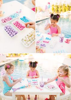 Pearl Princess Barbie Pool Party {Movie Inspired} // Hostess with the Mostess® Barbie Theme Party, Barbie Birthday Party, 5th Birthday Party Ideas, Mermaid Birthday, 4th Birthday, Pool Party Kids, Pool Parties, Kid Parties, Beach Party