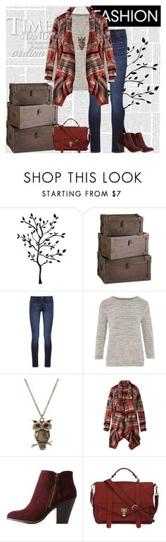 """""""Casual Fall Outfit 2017"""" by tvshowobsessed ❤ liked on Polyvore featuring RoomMates Decor, Cyan Design, DL1961 Premium Denim, CC, American Eagle Outfitters, Charlotte Russe and Handle"""