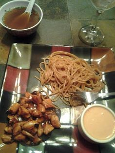 Hibachi Dinner- Recipe- Hibachi Noodles- Hibachi Chicken- Onion Soup