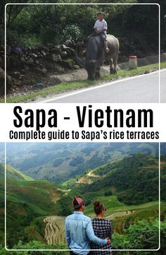 Sapa is in the north of Vietnam, not far away from the border to China. How to get from Hanoi to Sapa in Vietnam. Travel And Tourism, Asia Travel, Sa Pa, Rice Terraces, Horse Carriage, Travel Plan, New Theme, Far Away, All Over The World