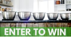 Want a chance to win a 5Pc mixing bowl set? Every week some lucky winner will get this awesome 5 Pc mixing bowl set complete with sealeable lids - FREE!