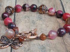 Berry Sorbet bracelet/ knotted bracelet/ boho by SerenitybyMisti, $23.00