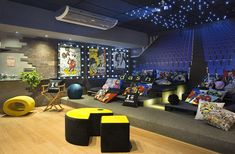 Teen Game Rooms, Video Game Rooms, Home Cinema Room, At Home Movie Theater, Home Bowling Alley, Gaming Lounge, Arcade Room, Hangout Room, Teen Hangout